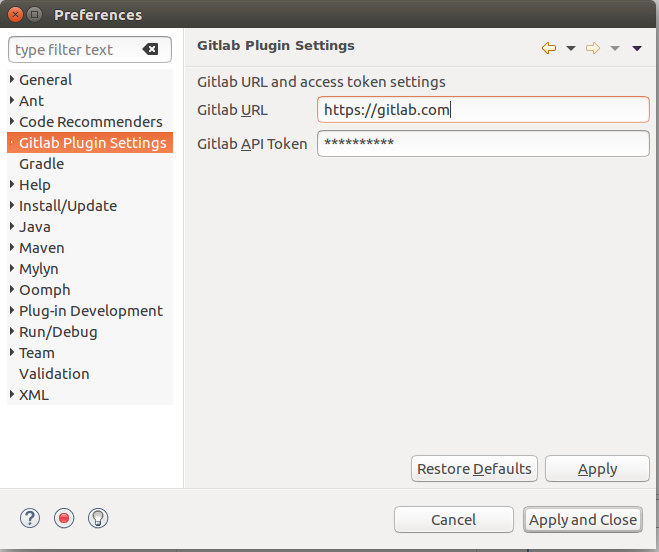 Gitlab Snippets Plugin | Eclipse Plugins, Bundles and