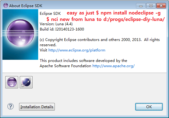 Nodeclipse CLI Installer | Eclipse Plugins, Bundles and Products