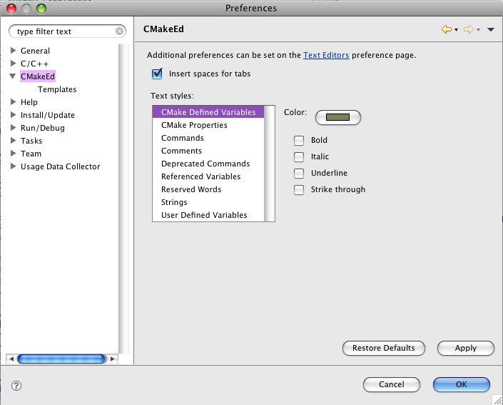 CMake Editor | Eclipse Plugins, Bundles and Products