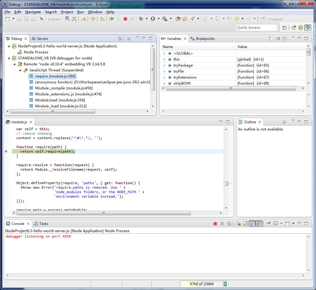 Enide p2f - Eclipse Node js IDE | Eclipse Plugins, Bundles and