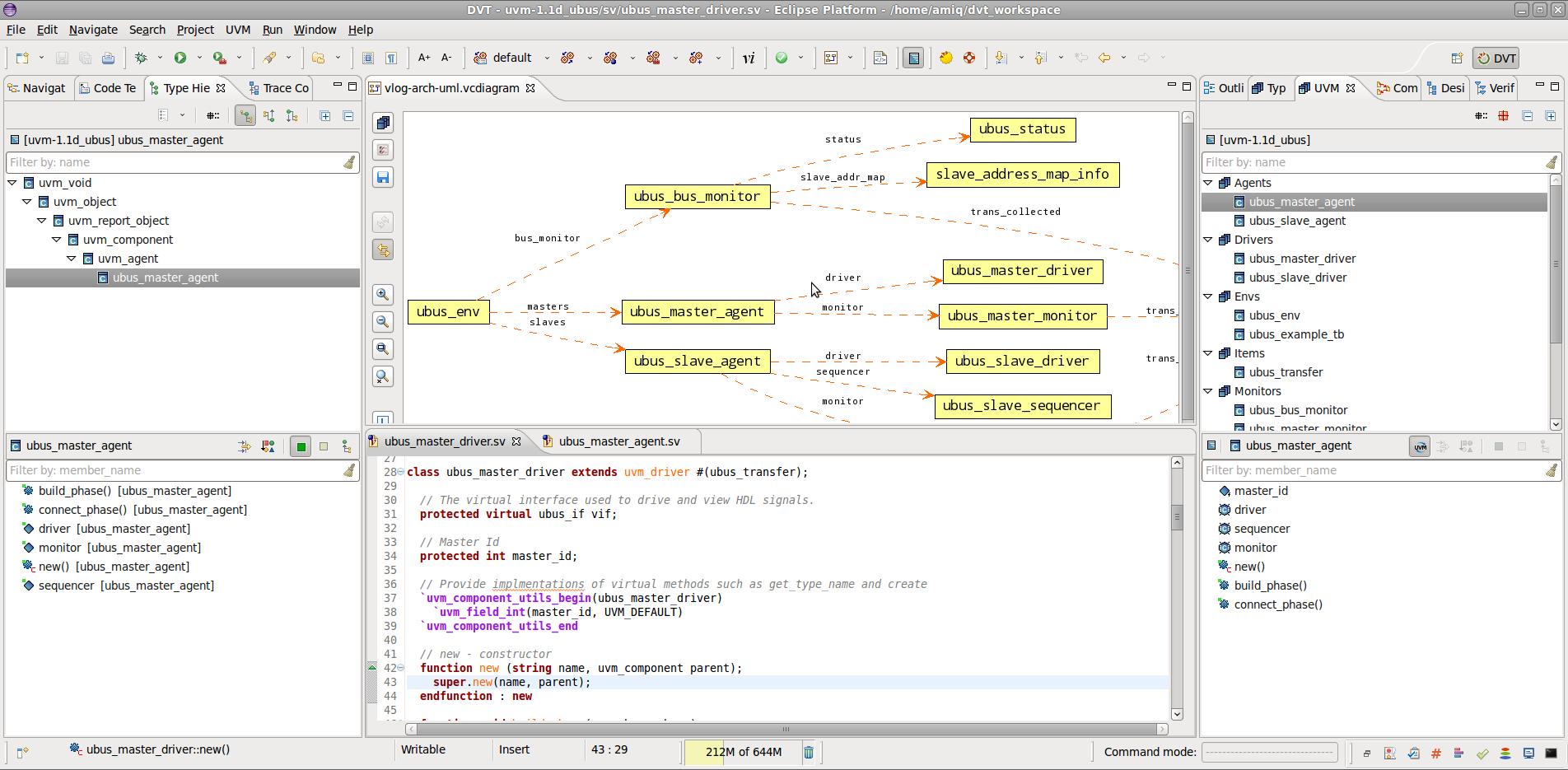 Design and Verification Tools (DVT) IDE for e, SystemVerilog