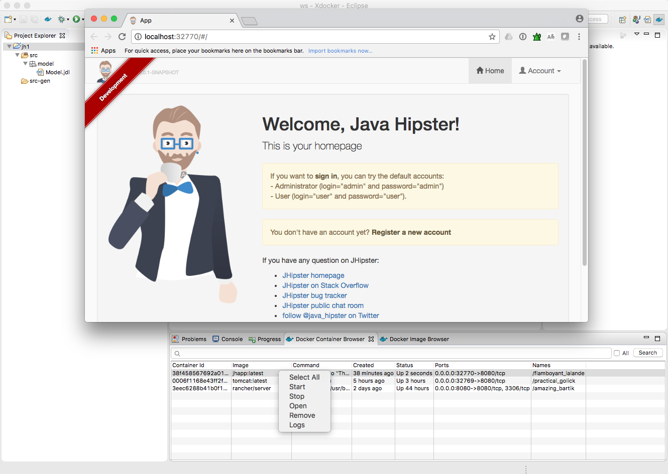JHipster IDE | Eclipse Plugins, Bundles and Products