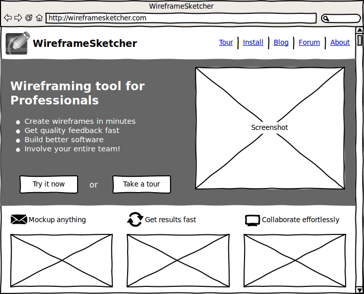 WireframeSketcher Wireframing Tool