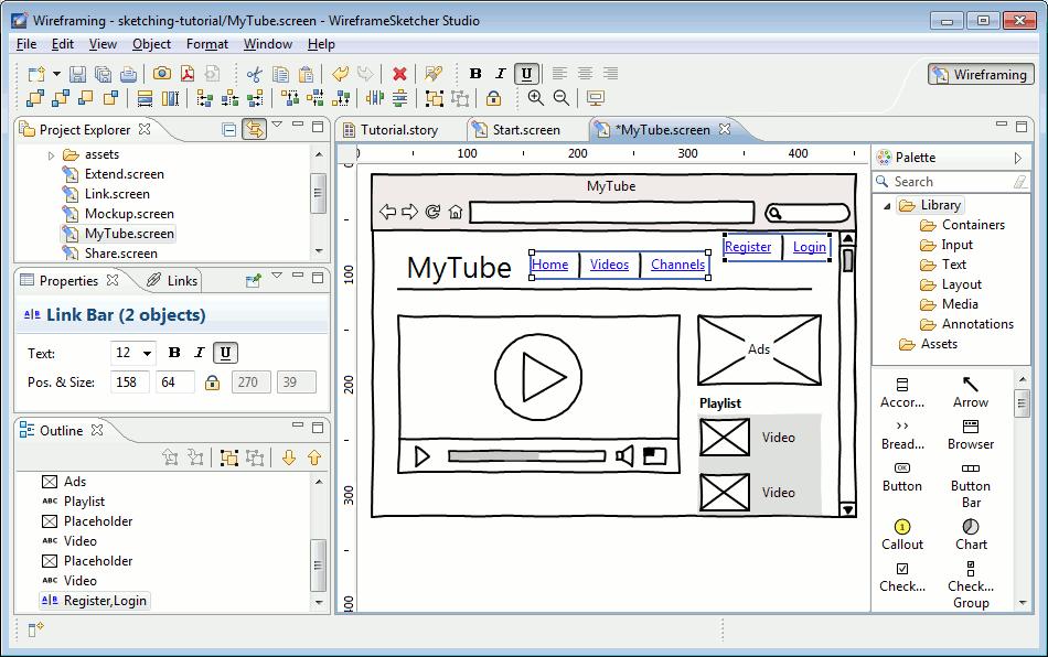 Wireframesketcher Wireframing Tool Eclipse Plugins