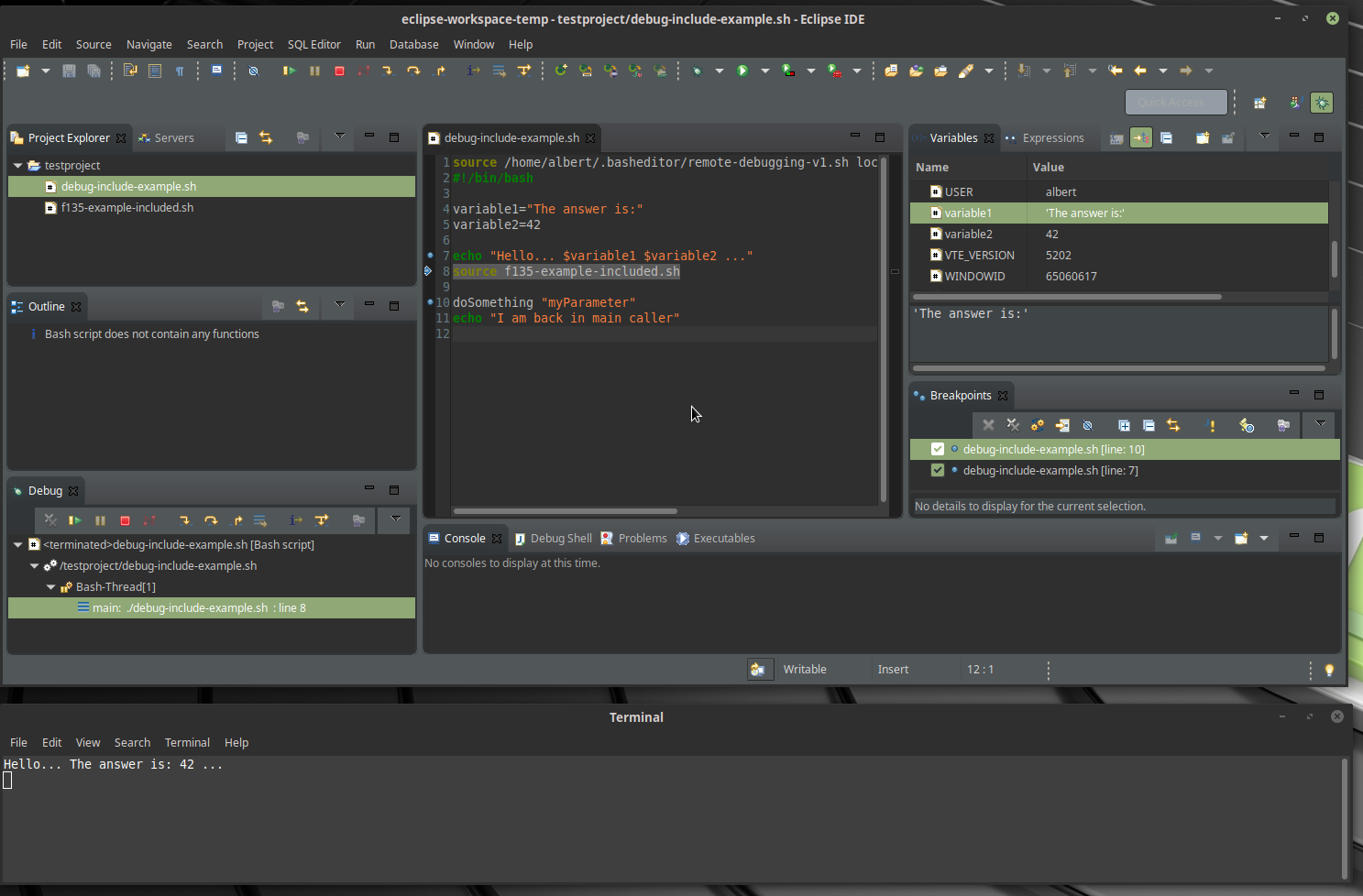 Bash Editor | Eclipse Plugins, Bundles and Products