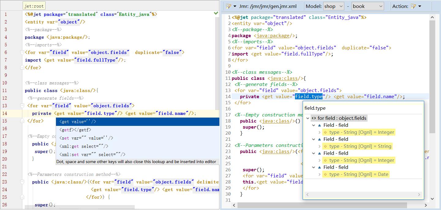 Jmr Code Generator for Java, JavaEE, SpringBoot/SpringCloud