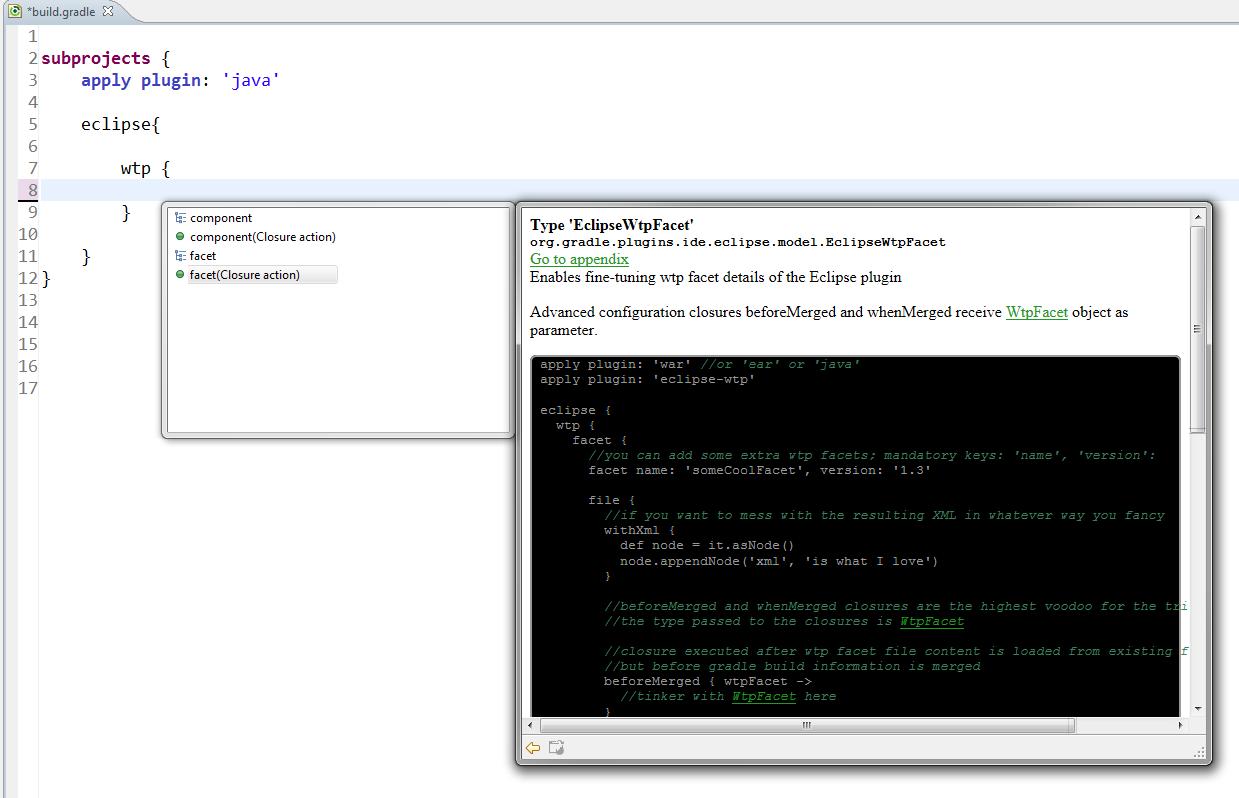 EGradle IDE   Eclipse Plugins, Bundles and Products