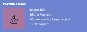 Discord Rich Presence for Eclipse IDE | Eclipse Plugins