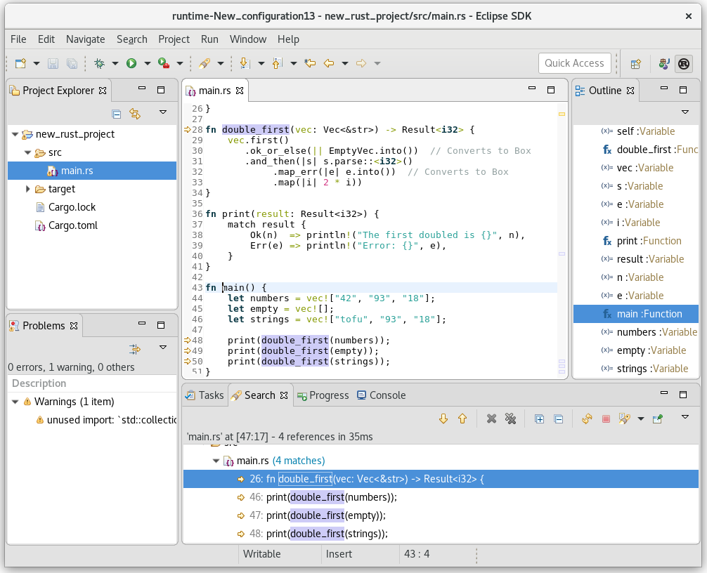 Eclipse Corrosion: develop Rust applications in Eclipse IDE
