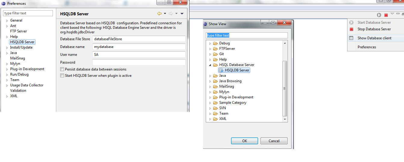 HSQLDB Database Server plugin | Eclipse Plugins, Bundles and