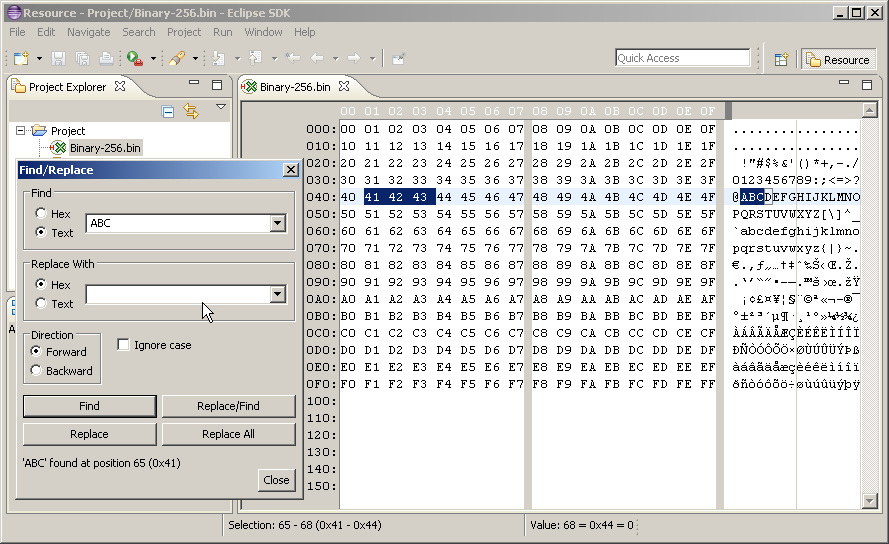 Java Hex Editor | Eclipse Plugins, Bundles and Products