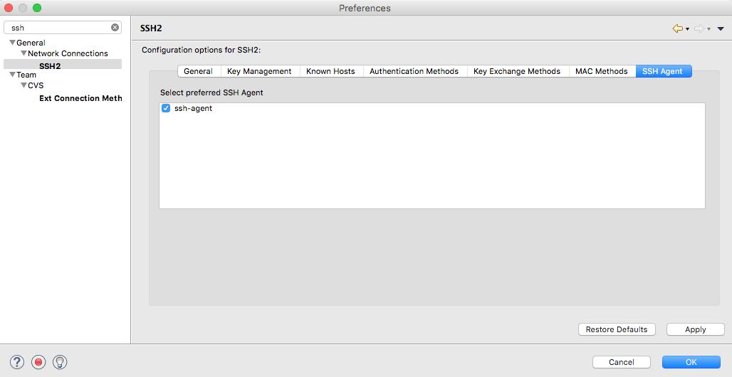SSH Agent Integration for Eclipse (Needs Owner/Archived