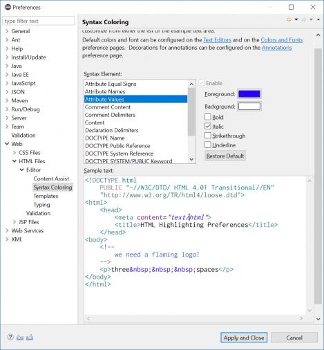 Eclipse Web Developer Tools | Eclipse Plugins, Bundles and