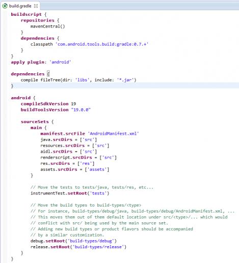 Minimalist Gradle Editor   Eclipse Plugins, Bundles and