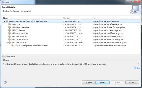 Remote System Explorer (SSH, Telnet, FTP and DStore